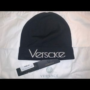 Authentic Versace beanie stocking cap hat